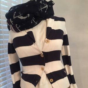 Navy blue sweater jacket in size S